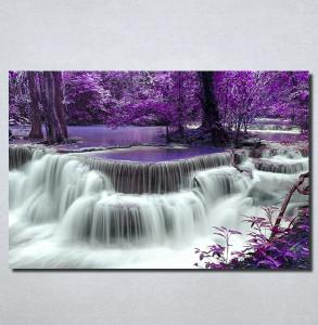 Slike na platnu Vodopad i ljubičasto lišće Nina100_P