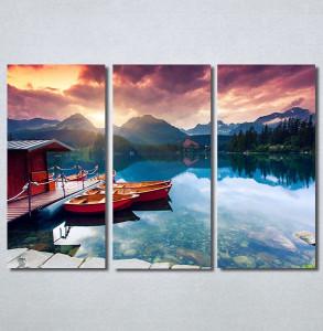 Slike na platnu Zalazak sunca na jezeru Nina30277_3