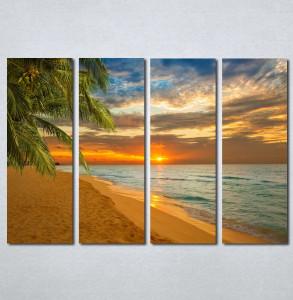 Slike na platnu Zalazak sunca na plazi Nina142_4