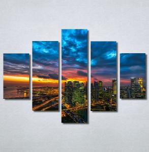 Slike na platnu Zalazak sunca u gradu Nina30247_5