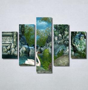 Slike na platnu Zamak i labud Nina30257_5