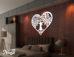Dekor Nina Drvo srce drvo nd019