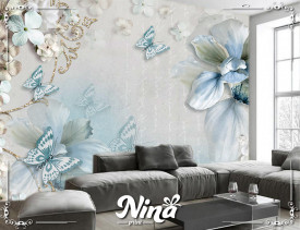 Foto tapet Pastelno plavi cvet Tapet275