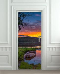 Nalepnica za vrata Camac na reci 6169