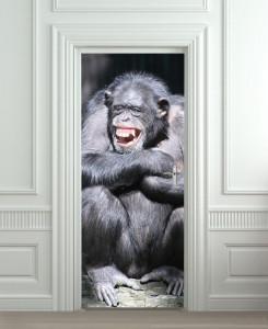 Nalepnica za vrata Majmun 6013