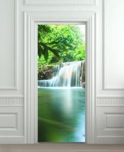 Nalepnica za vrata Vodopad priroda 6148