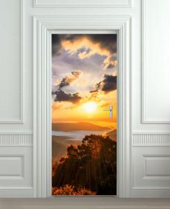 Nalepnica za vrata Zalazak sunca 6089