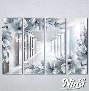 Slike na platnu 3d cvece Nina324_4