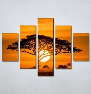 Slike na platnu Afrika zalazak sunca Nina077_5