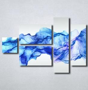 Slike na platnu Apstrakcija plavo Nina161_5