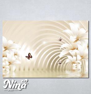 Slike na platnu Beli cvet i leptiri Nina279_P