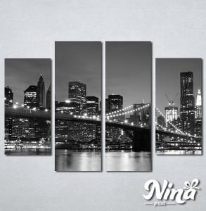 Slike na platnu Bruklinski most noću Nina281_4