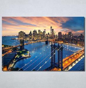 Slike na platnu City and sunset Nina30227_P