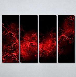 Slike na platnu Crno crvena apstrakcija Nina105_4