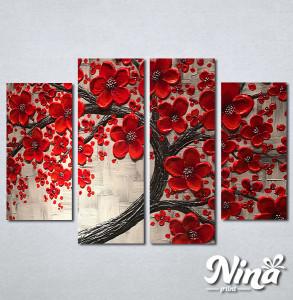 Slike na platnu Crveno drvo Nina263_4
