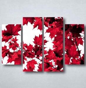 Slike na platnu Crveno lišće Nina091_4