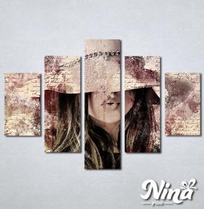 Slike na platnu Dama u šeširu Nina312_5