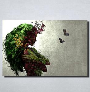 Slike na platnu Devojka apstraktno Nina153_P