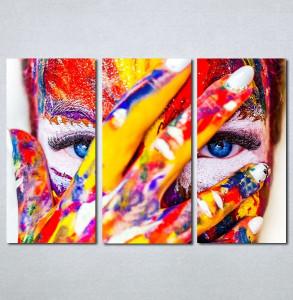 Slike na platnu Devojka color Nina133_3
