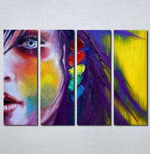 Slike na platnu Devojka i boje Nina016_4