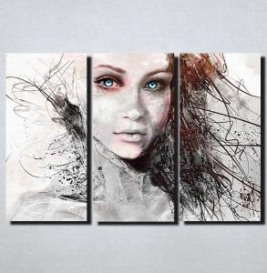Slike na platnu Devojka sa plavim ocima Nina157_3