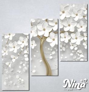 Slike na platnu Drvo sa belim cvetom Nina302_3