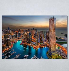 Slike na platnu Dubai nocu Nina051_P