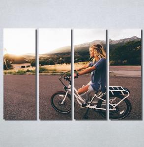 Slike na platnu Girl on bike Nina30186_4