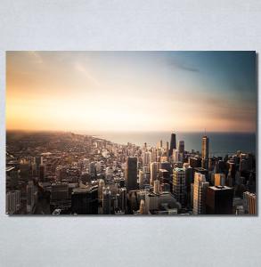 Slike na platnu Grad i zalazak sunca Nina30162_P