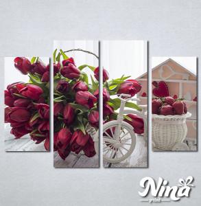 Slike na platnu Lale i jagode Nina307_4
