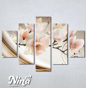 Slike na platnu Magnolija apstrakcija Nina335_5