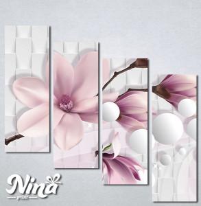 Slike na platnu Nezno roze magnolija Nina318_4