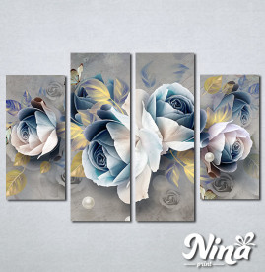 Slike na platnu Pastelno plavi cvet Nina305_4