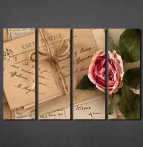 Slike na platnu Pismo i ruža Nina30133_4