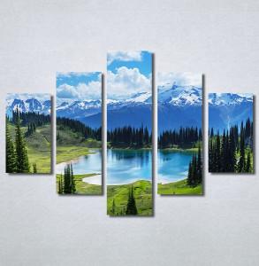 Slike na platnu Planinsko jezero Nina30320_5