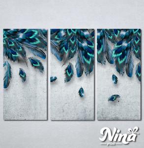 Slike na platnu Plavo perje Nina338_3