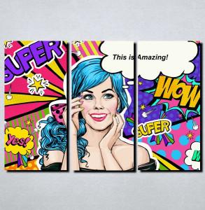 Slike na platnu Pop Art Nina148_3