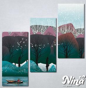 Slike na platnu Priroda apstrakcija Nina292_3