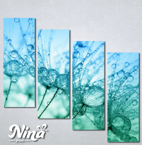 Slike na platnu Tirkizni cvet Nina267_4