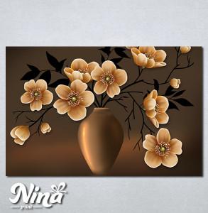 Slike na platnu Vaza i cveće Nina291_P
