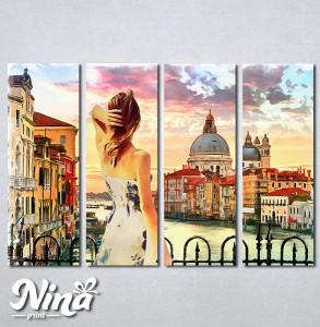 Slike na platnu Venecija kanal Grande Nina317_4