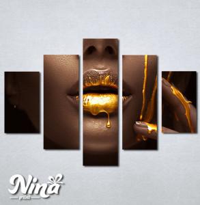 Slike na platnu Zlatna boja na usnama Nina328_5