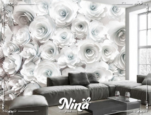 Foto tapet Bele ruže Tapet254