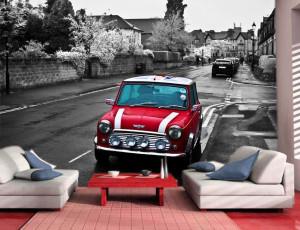 Foto tapeta Crveni auto London Tapet097