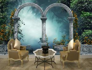 Foto tapeta Renesansi stubovi u dvorištu Tapet048