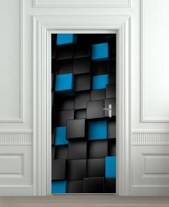Nalepnica za vrata 3D kocke 6161