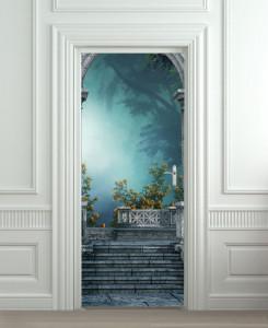 Nalepnica za vrata Cvetna terasa 6127