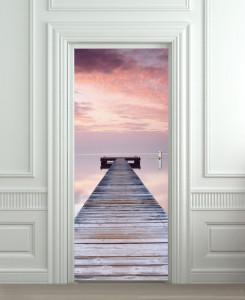 Nalepnica za vrata Drveni mol 6110