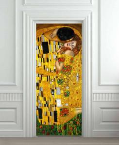 Nalepnica za vrata Poljubac Gustav Klimt 6100