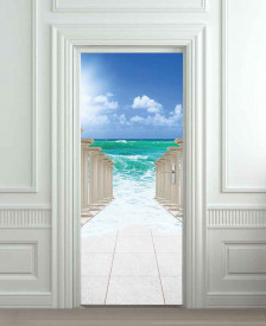 Nalepnica za vrata Staza ka moru 6186